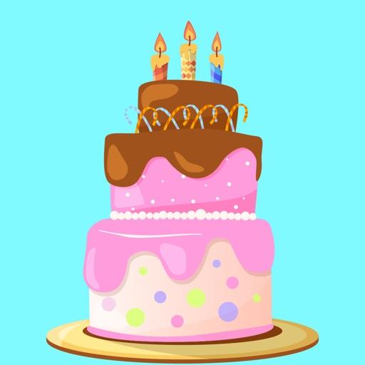 Happy Birthday Cake Stickers By Salma Akter