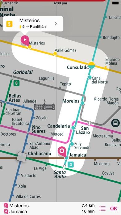 Mexico City Rail Map Lite screenshot three