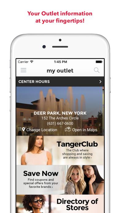 Tanger Outlets Screenshot