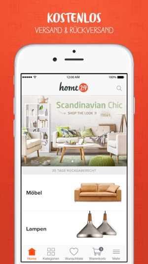 Home24 m bel online shop on the app store for Home24 gmbh