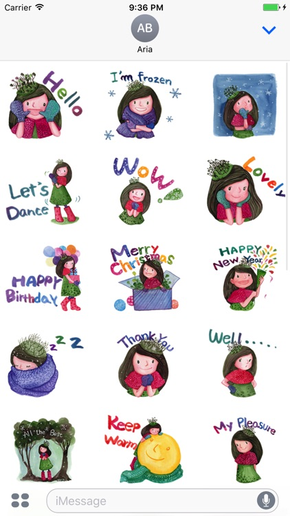 Pretty Girl in Winter Sticker screenshot-4