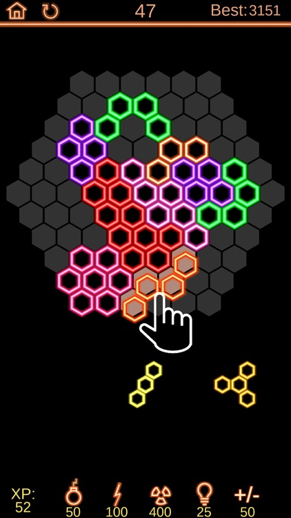 Neon Poly - Hexa Puzzle Game screenshot-0