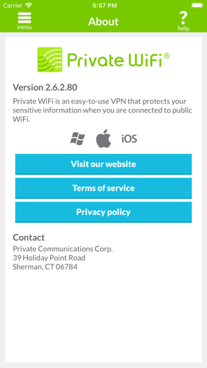 PRIVATE WiFi - personal VPN on the App Store
