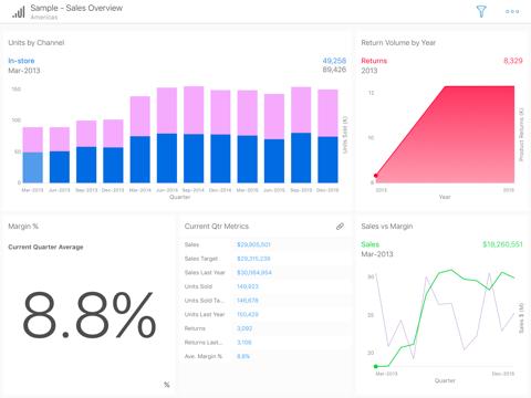 SAP Roambi Analytics for BB - náhled