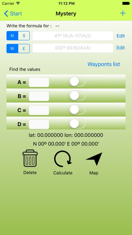Waypoint for geocaching