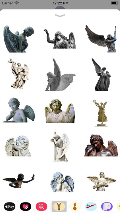 Angel Statue Stickers