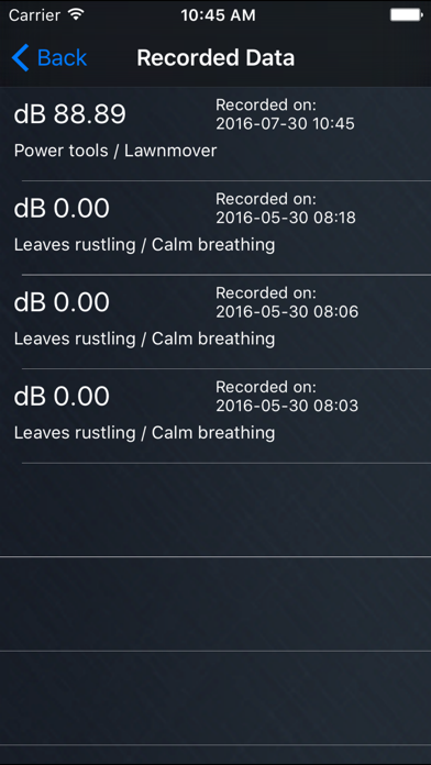 Screenshot for dBSoundMeter Pro in Israel App Store