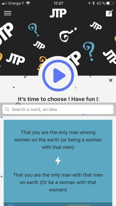 JTP Screenshot on iOS