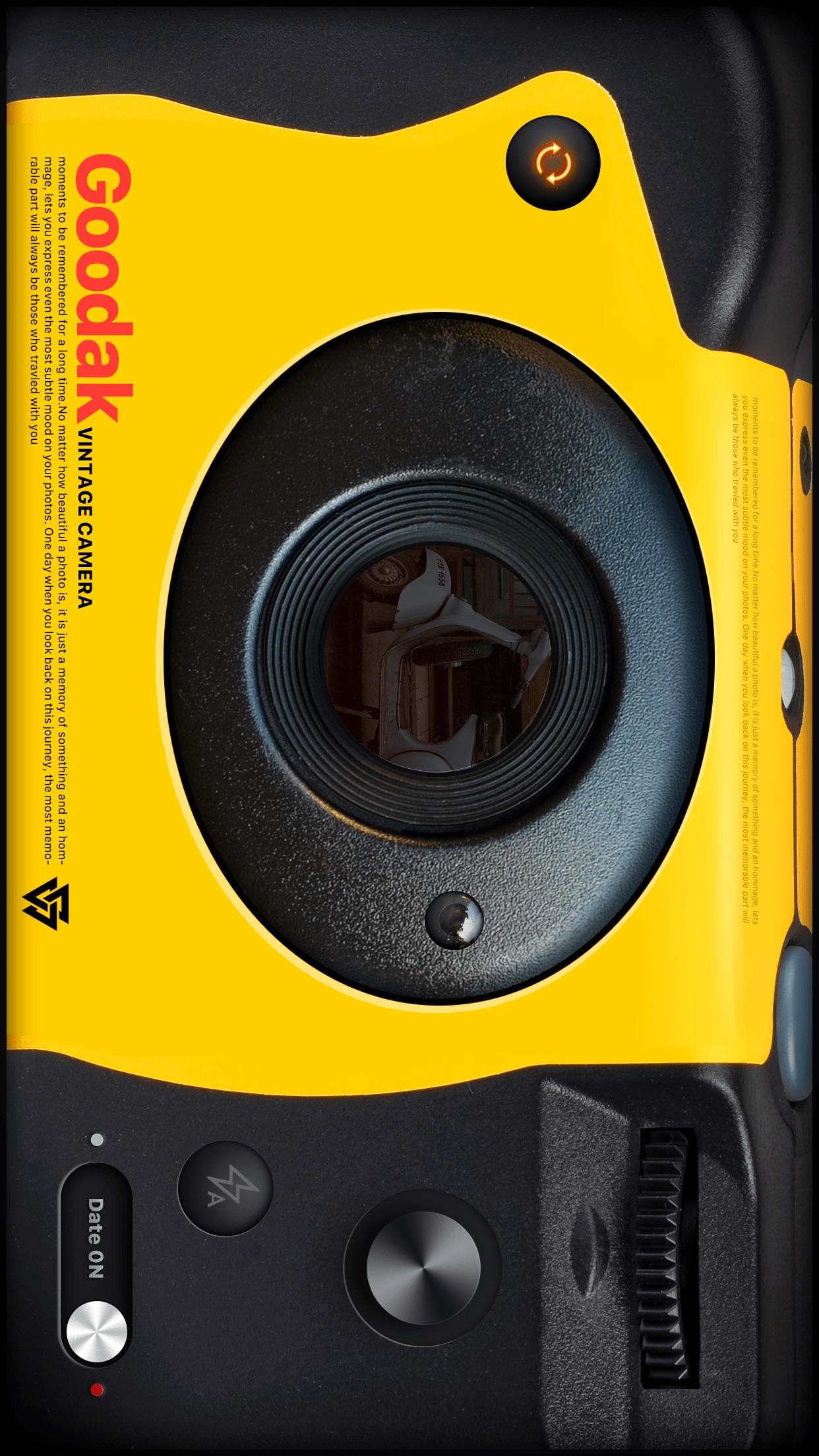 Screenshot do app Goodak - analog retro film cam