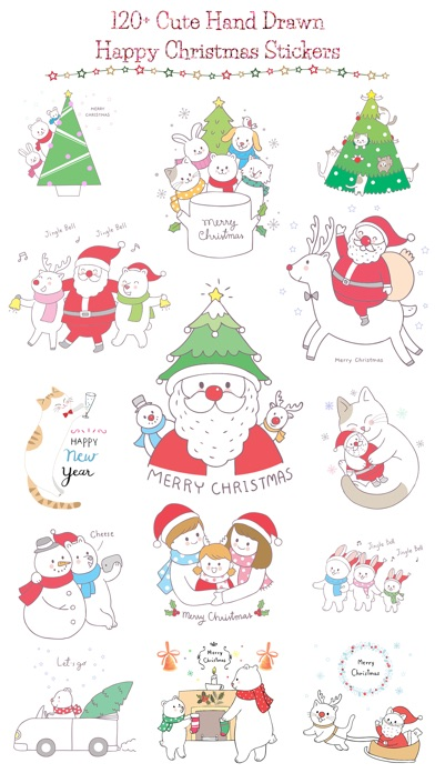 Cute Hand Drawn Christmas Pack screenshot 1
