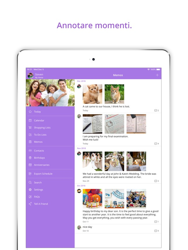 Calendario Condiviso Su Whatsapp.Famcal Shared Family Calendar Su App Store