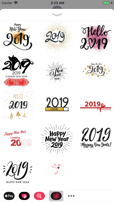 Happy New Year Wishes Sticker screenshot four