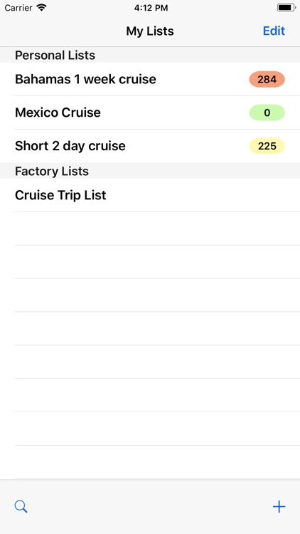 Cruise Trip List screenshot-0