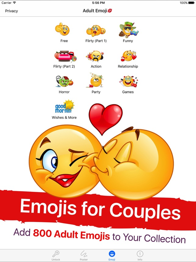 adult emoji for lovers dans lapp store - Emoji Iphone Gratuit