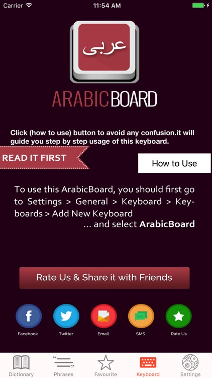 ArabicBoard Dictionary + Keys