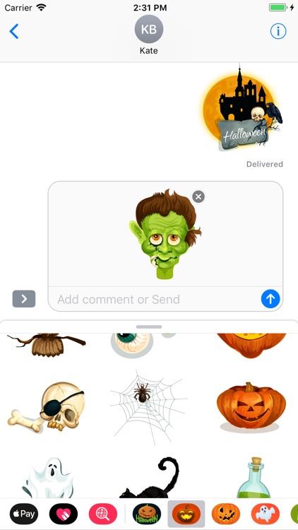Happy Halloween Creepy Sticker