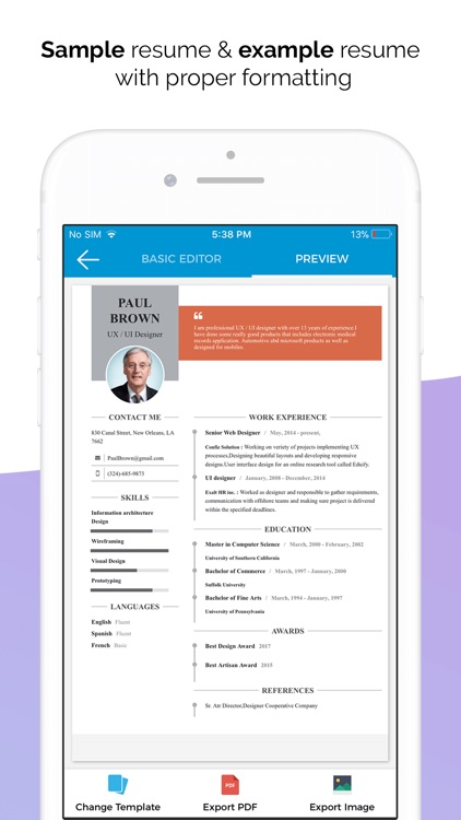 Quick Resume Builder, CV Maker