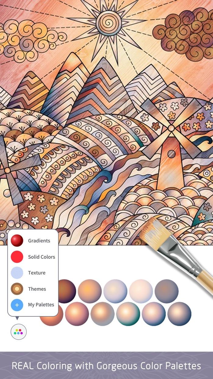 Color Doodle Art Coloring Book Screenshot