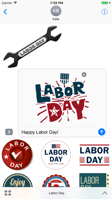 Happy Labor Day Stickers For Message App Download