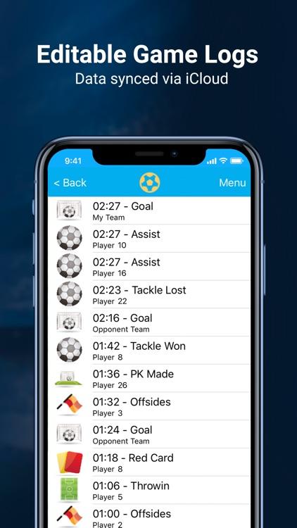 Soccer Stats Recorder 3000 screenshot-3