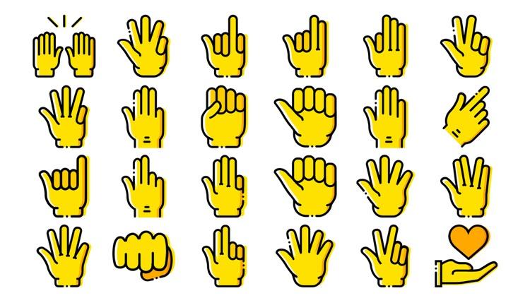 Hand Gesture Stickers