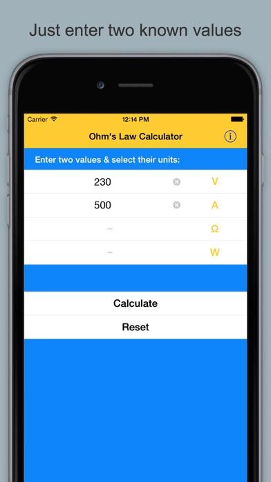 Ohm's Law Calculator & Guide screenshot one