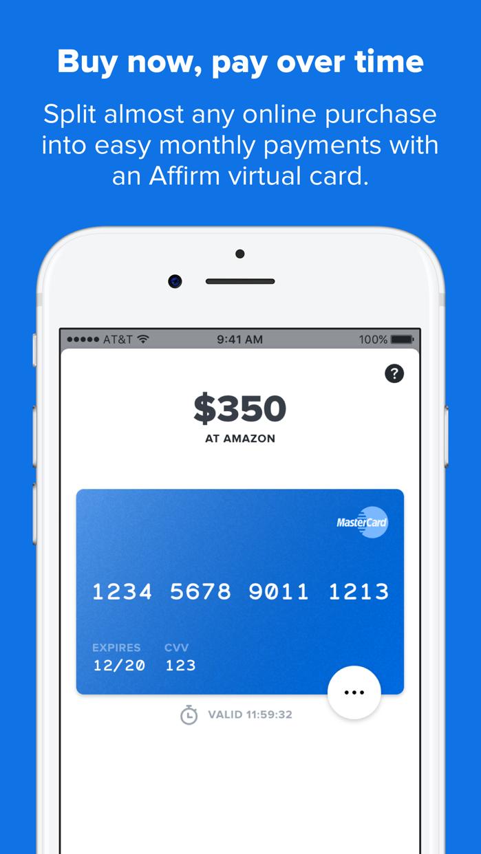 Affirm: A better way to pay Screenshot