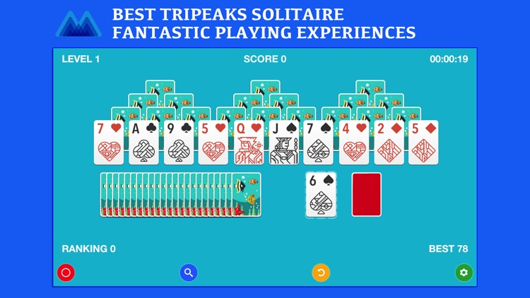 TriPeaks Solitaire Board Game