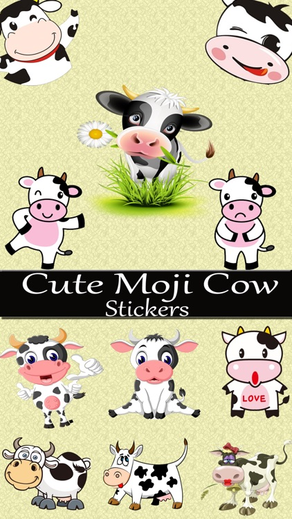 Moody Cow Stickers