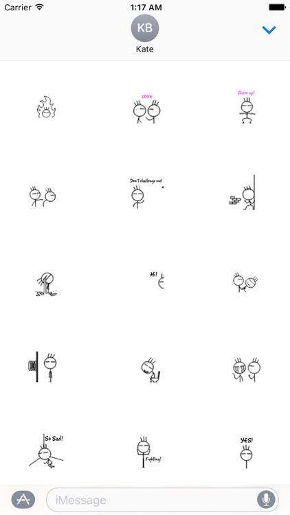 Animated Stick Man Sticker Gif