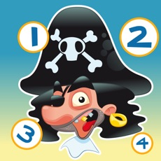 Activities of Pirate counting game for children: Learn to count the numbers 1-10 with the pirates of the ocean