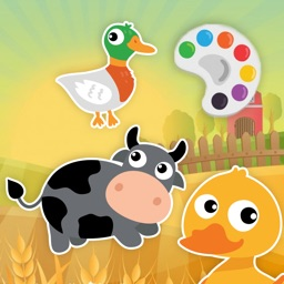 Cute Farm with Animals Coloring Pages