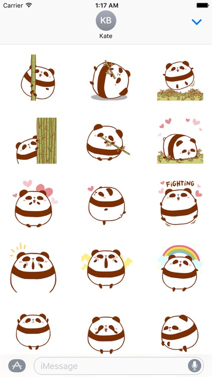 Chubby Panda Animated Sticker