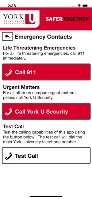 call my iphone york u safety on the app 5497
