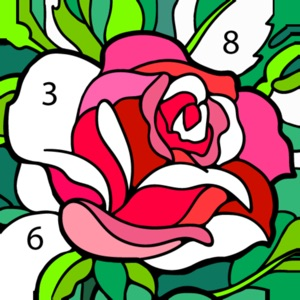 Color by Number #Coloring Book