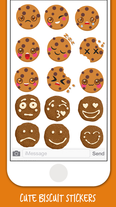 Yummy Biscuit Stickers screenshot one