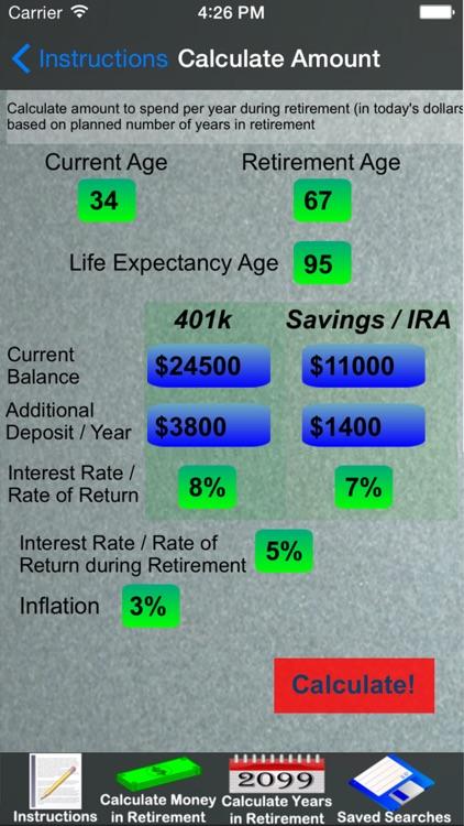 Easy Retirement Calculator screenshot-3