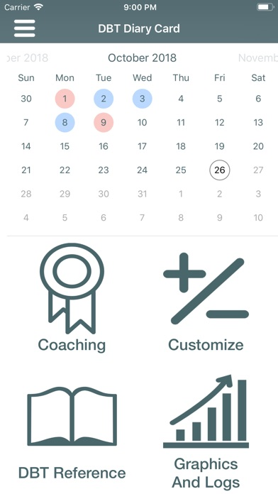 Dbt Diary Card Skills Coach review screenshots