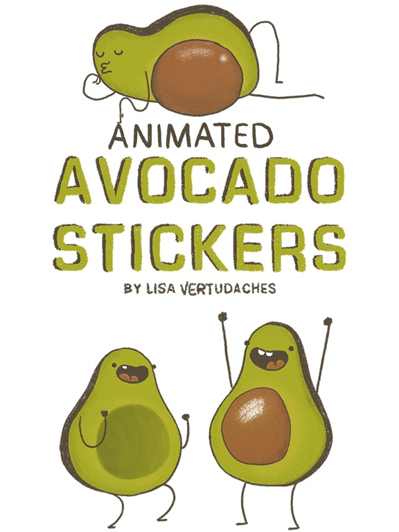 Screenshot #1 for Avocado Stickers