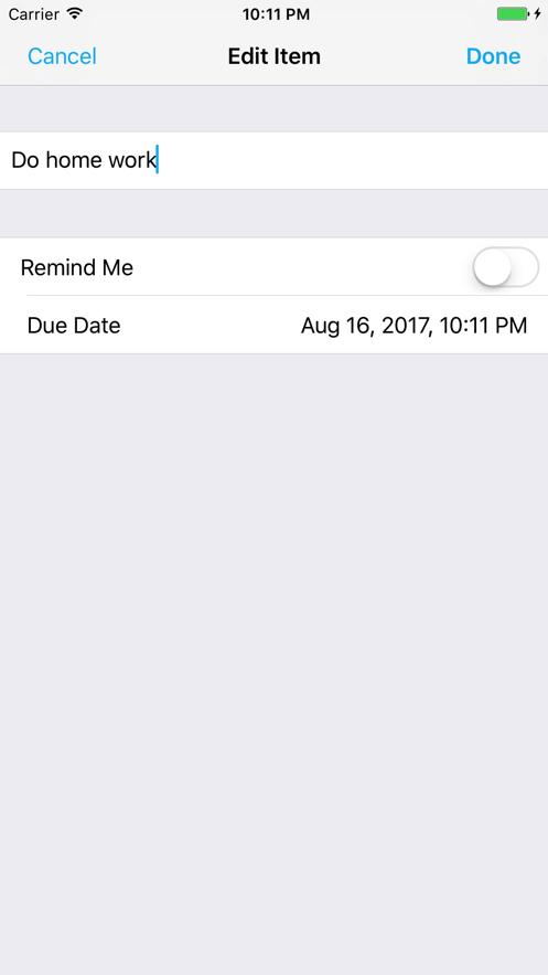 iScheduler To-Do App 截图