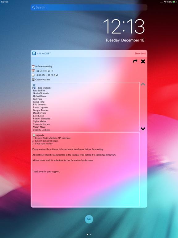 Screenshot #6 pour Week Calendar Widget Pro