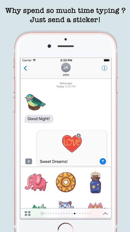 Cute Art Stickers For iMessage screenshot-4