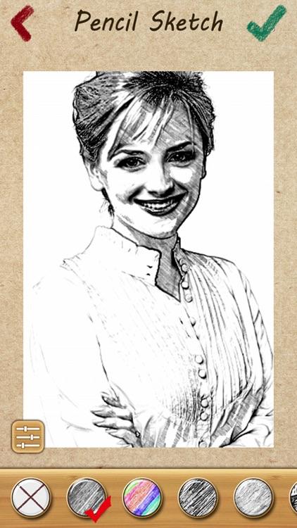 Pencil Sketch Photo Camera Pad