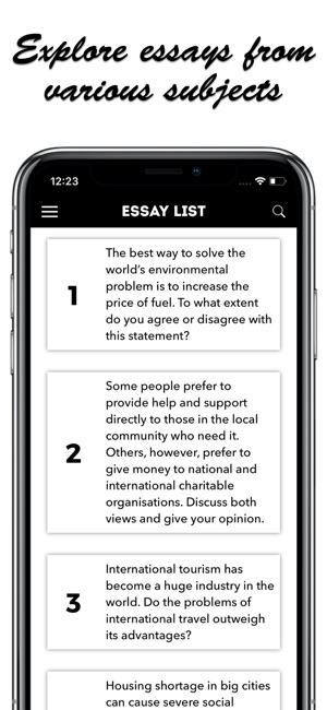 IELTS Essays on the App Store