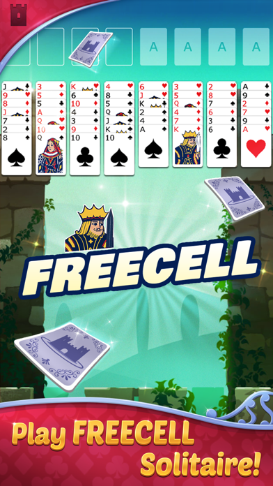 FreeCell Solitaire with Themes screenshot 1