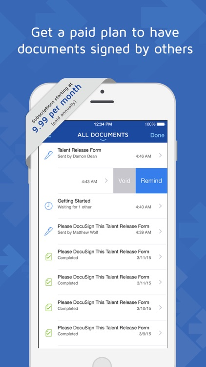 DocuSign - Upload & Sign Docs screenshot-4