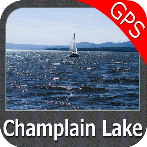 Champlain lake Vermont GPS offline fishing charts