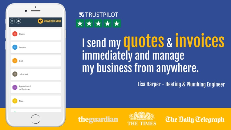 Powered Now: Invoice & Quote screenshot-0