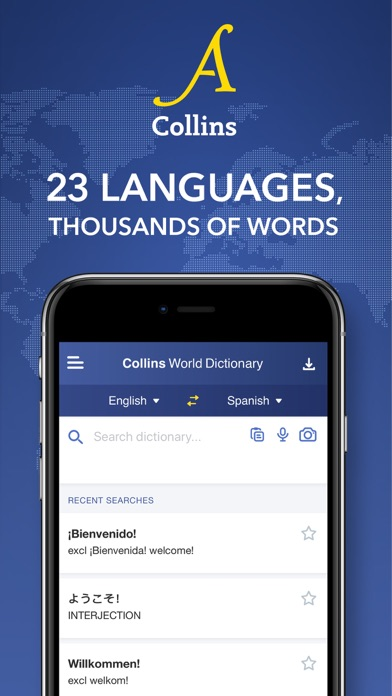 Collins World Dictionary screenshot one