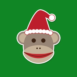 Merry Sock Monkey Stickers